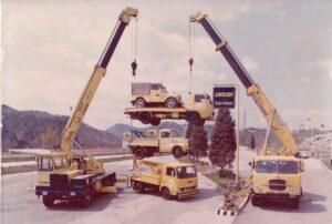 Parco Mezzi soccorso nel 1971